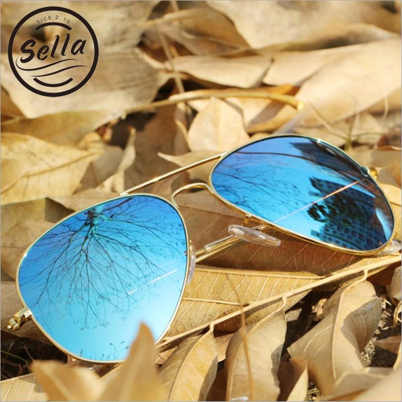 8eb31c99f Sella Moda Mulheres Polarizada Óculos De Sol Da Marca Designer Clássico  Piloto Homens Revestimento de Óculos de Sol Da Lente Do Espelho de Condução  Óculos