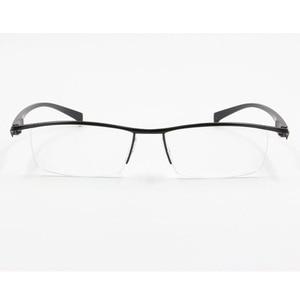 Image 4 - BCLEAR חדש גברים עסקי משקפיים מסגרת חצי רים מותג טיטניום סגסוגת קוצר ראייה משקפיים האולטרה אופנה כיכר מסגרות