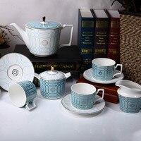 Европейский домашний чайный набор 11 Phnom Penh костяного фарфора кофейные столовые приборы набор гостиной послеобеденный чайный чайник сахарн