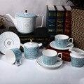 European Home Tea Set 11 Phnom Penh Bone China Coffee Cutlery Set Living Room Afternoon Teapot Sugar Milk Pot Cup And Saucer