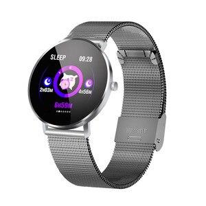 Image 3 - Inteligentny zegarek bransoletka F25 pełnoekranowy dotykowy lokalizator GPS pulsometr Monitor ciśnienia krwi nadgarstek Sport SmartBracelet