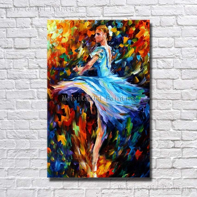 Vestido azul chica danza ballet pared pinturas agradables for Pintura pared azul grisaceo