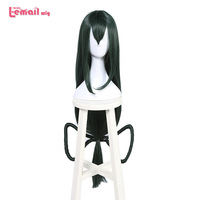 L Email Wig Brand New 100cm 39 37inches Cosplay Wigs Long Dark Green Heat Resistant Synthetic