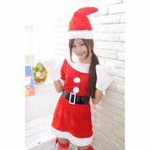 2017 New Adults Women Slim Fit Sexy Christmas Suit Costumes Adult women Santa Claus Cosplay Christmas Party Fancy Dress z30