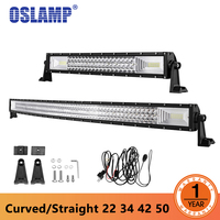 Auxbeam 42 400W Cree Chips Curved LED Light Bar Offroad 5D Lens Combo Head Light Led