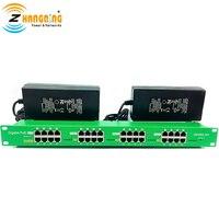 802.3af/at 16 Порты и разъёмы Gigabit Active Инжектор PoE светодиодный статус с 56 В 240 Вт Питание для PoE Камера, точка доступа Wi Fi