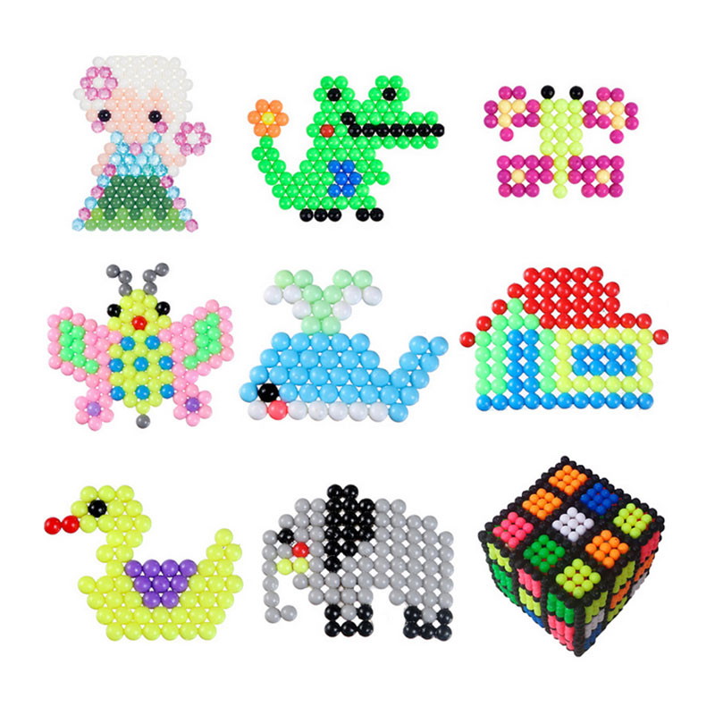 цены 6000PSC Water Bead Puzzle Magic Beads Kid Puzzle Educational Toys Jigsaw Aqua Beads Jouets Perler Beads Toy Pegboard Hama Pixels