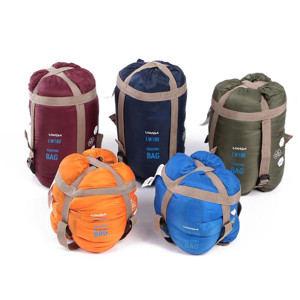 Это спальный мешок 190*75 см Тип полиэстер Спальные мешки кемпинга с компрессионный мешок туристическое снаряжение 680 г