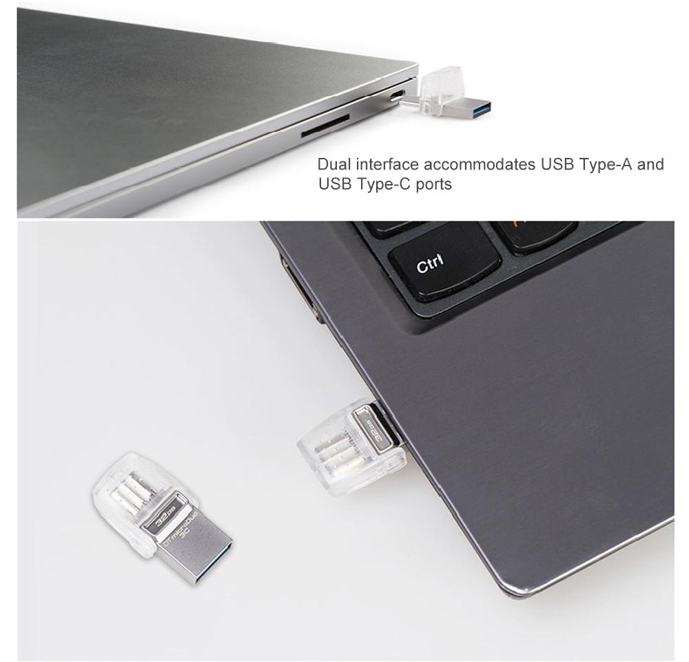 Kingston USB Flash Drive 64GB 32GB 16GB USB 3.1 Type-C Pendrive USB 3.0 Pen Drive Memory Stick for PC  Phone with Type-C Port (16)