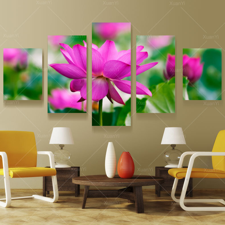 Lotus Flower Wall Art online get cheap lotus flowers wall art -aliexpress | alibaba