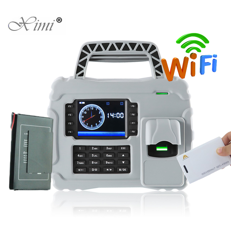 Waterproof Dust Proof Shock Proof ZK S922 TCP/IP WIFI Fingerprint Time Attendance With RFID Card Reader Built in Backup Battery