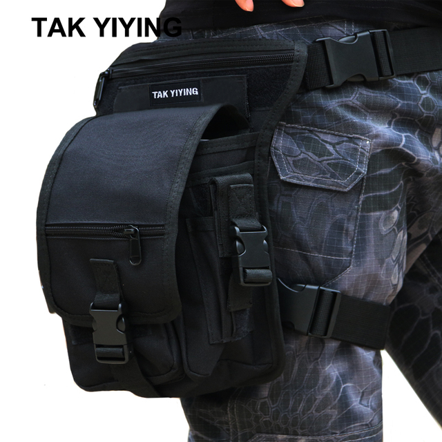 TAK YIYING Outdoor Hunting Tactical Drop Leg Bag Multifunction Panel Utility Waist Belt Pouch Bag