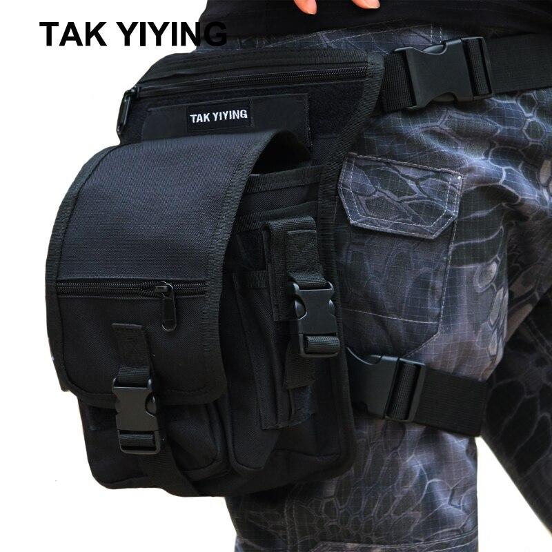 TAK YIYING exterior caza táctica gota pierna bolsa multifunción Panel utilidad cintura cinturón bolsa