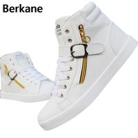 Autumn The New Trend Of Korean Men S Shoes White Shoes Skateboard Leisure Increased 7CM In
