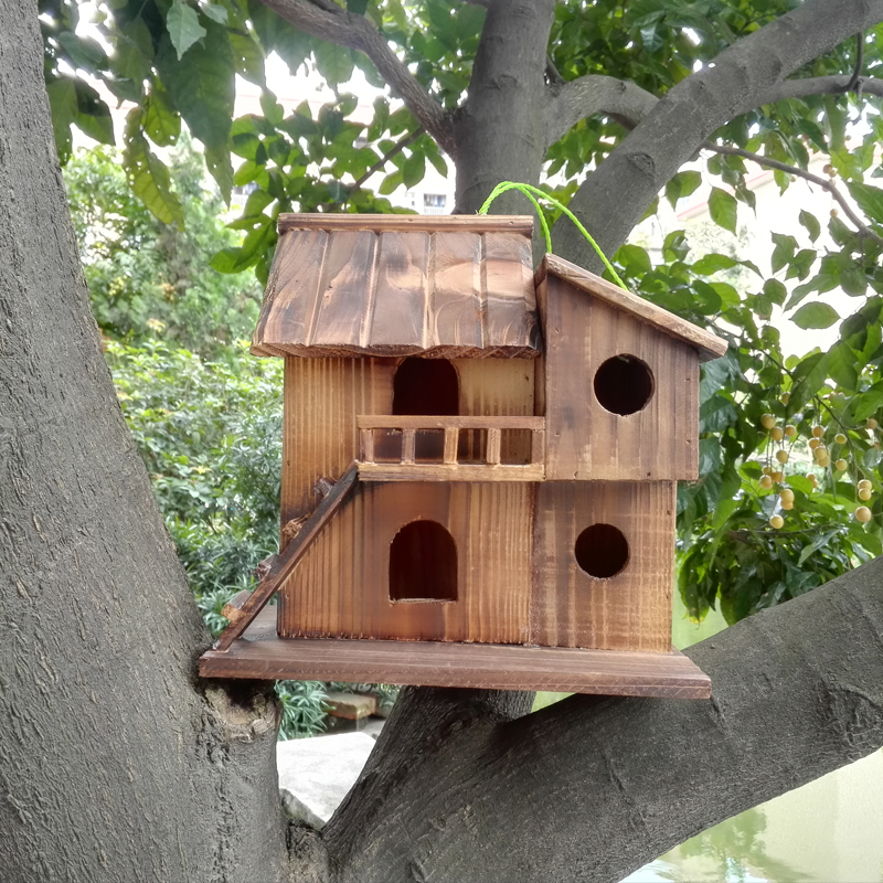 25*25*16 Cm Wood Preservative Outdoor Birds Nest Wood Preservative Bird  Nest Decoration Bird House Wooden Bird Cage Toy In Cages U0026 Nests From Home  U0026 Garden ...