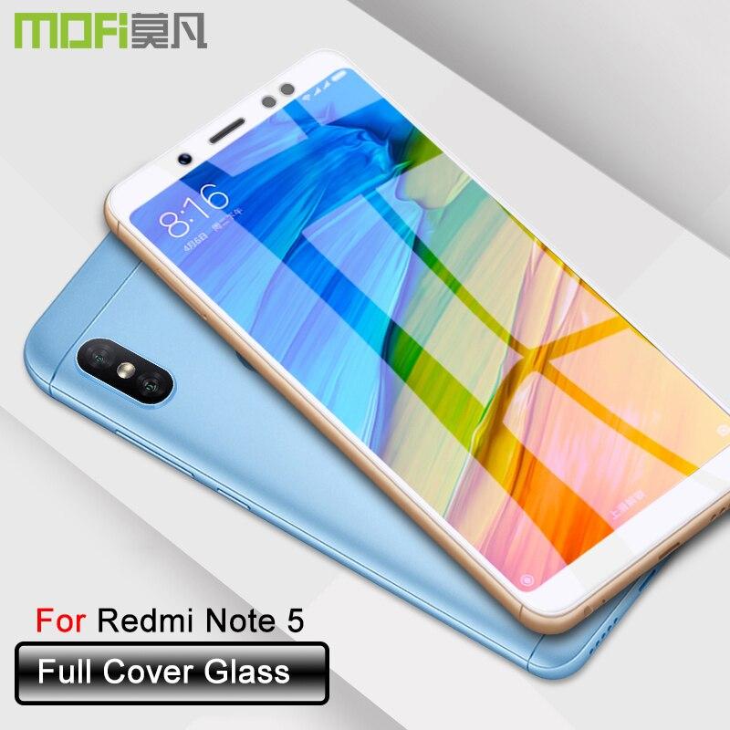 Xiaomi redmi note 5 di vetro temperato di vetro della copertura completa xiaomi redmi note 5 protezione dello schermo ultra sottile redmi note 5 5D curvo mofi