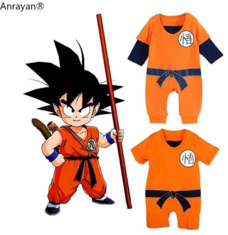 Baby Rompers Kids Cloth Newborn Baby Boys Clothes SON GOKU Toddler Jumpsuit Bebes Halloween Costumes For Baby Boy Girl Clothing