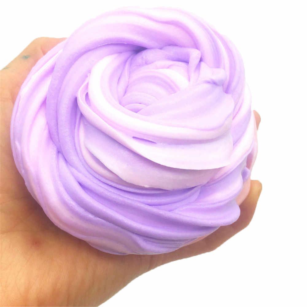 Relax toy squishies squishies doux amusant macaron couleur mélange gelée jouet doux Slime parfumé soulagement du Stress jouet boue jouets D300126