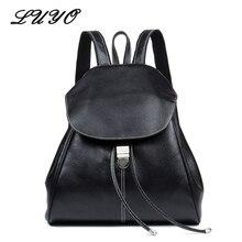 Одежда высшего качества натуральная кожа женская Повседневная модная маленькая женственная путешествия Kawaii рюкзак мешок DOS Bagpack сзади шнурок