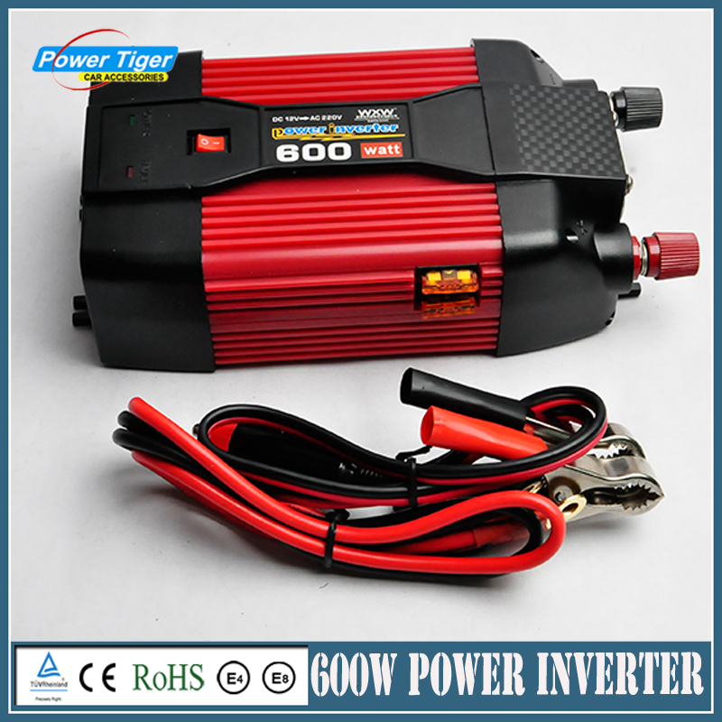 ФОТО 600W Car Power Inverter DC12V/24V TO AC220V Compact Portable Car Charger Adapter Modified Sine Wave Power Inverter