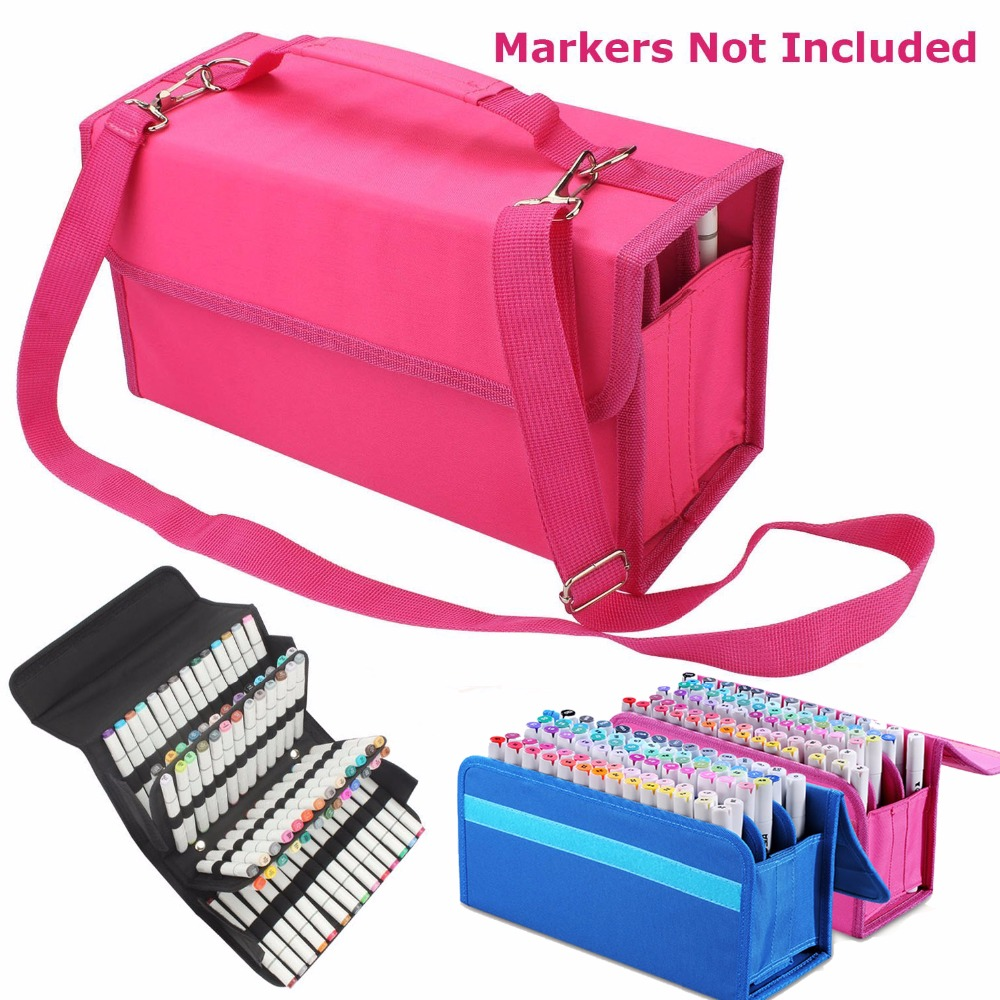 80 Slots Marker Pen Case Lipstick Carrying Bag Holder for Primascolor Marker Sketch Marker Paint Marker Color highlighter touchnew 60 colors artist dual head sketch markers for manga marker school drawing marker pen design supplies 5type