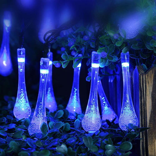 Luftfilter STR8 Helix Illuminated blaue LEDs blau