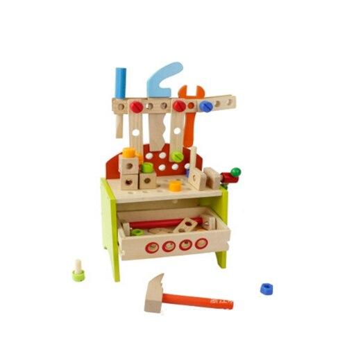 En bois semblant jouer outil jouets pour enfants enfants assembler réparation boîte à outils enfant apprentissage précoce jouets éducatifs