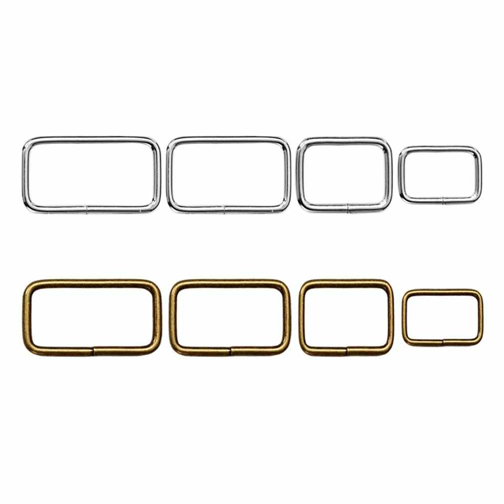 Bronze Multi-size DIY Metal Hand Bag Shoe Strap Belt Web Adjust Roller Pin Buckle Snap Rectangle Ring Leather Craft Repair Tools