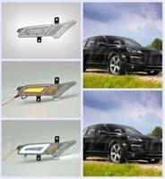 E4 одобрены для Cayenne 2007 2010 2008 2009 Smoke объектив Янтарный Белый светодиод DRL поворотов положение загорается лампочка