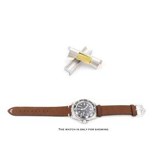 Image 3 - Rolamy 20mm כסף זהב שחור עלה זהב מוצק מעוקל סוף קישור עבור רולקס צוללן שעון להקת גומי עור