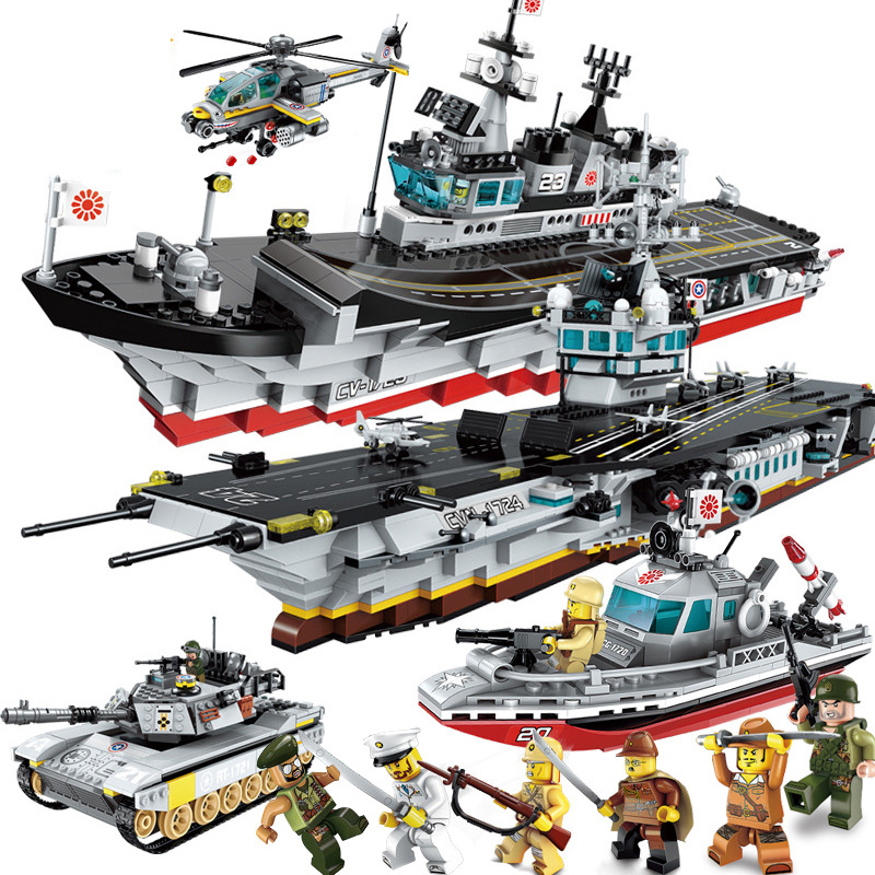 Energetic Battlefield Series Childrens Building Blocks Toy Compatible Legoings City Aircraft And Carrier Boy Toy Military Tank Aircraft Making Things Convenient For Customers Blocks