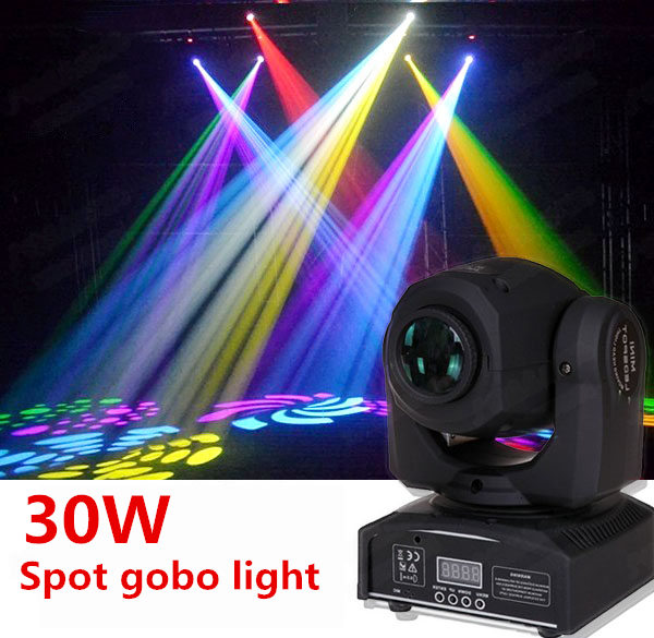 цена на Mini Spot 30W LED Spot Moving Head Light/ dj controller LED gobo Lights beam lights