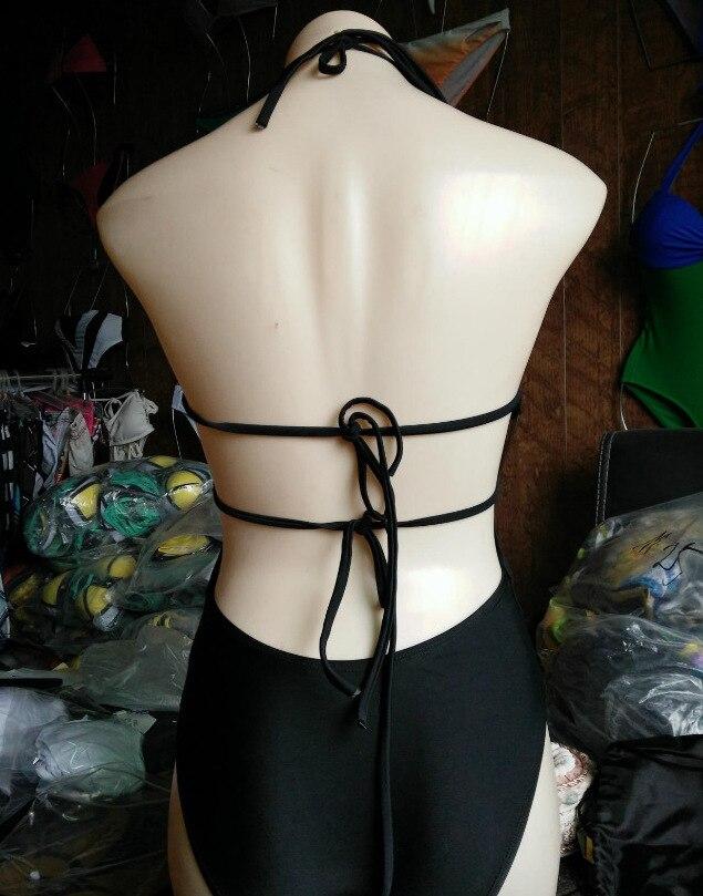 2017 Sexy Bandage One-Piece Bikini Swimsuit Bathing Suit Swimwear Biquni Beachwear For Women 3