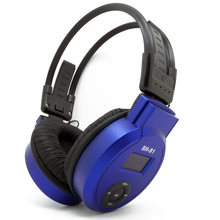 HI-FI Headphone LCD Foldable Wireless Headphone Headset + Fm Radio Tf Card + Mp3 Player – Blue