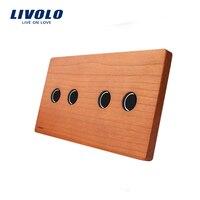 Livolo Luxury Cherry Wood Panel 151mm 80mm EU Standard Double Wood Panel VL C7 C2 C2