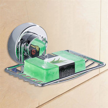 Stainless Steel Soap Holder Cup Box Dish Strong Vacuum Suction Cup Soap Storage Dish Box Bathroom Bathroom Accessories