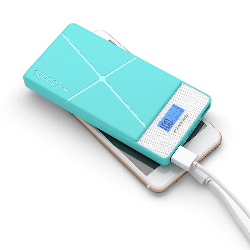 Pineng-983 Power Bank 10000mAh LED External Battery Portable Mobile Dual USB Powerbank carregador portatil para celular