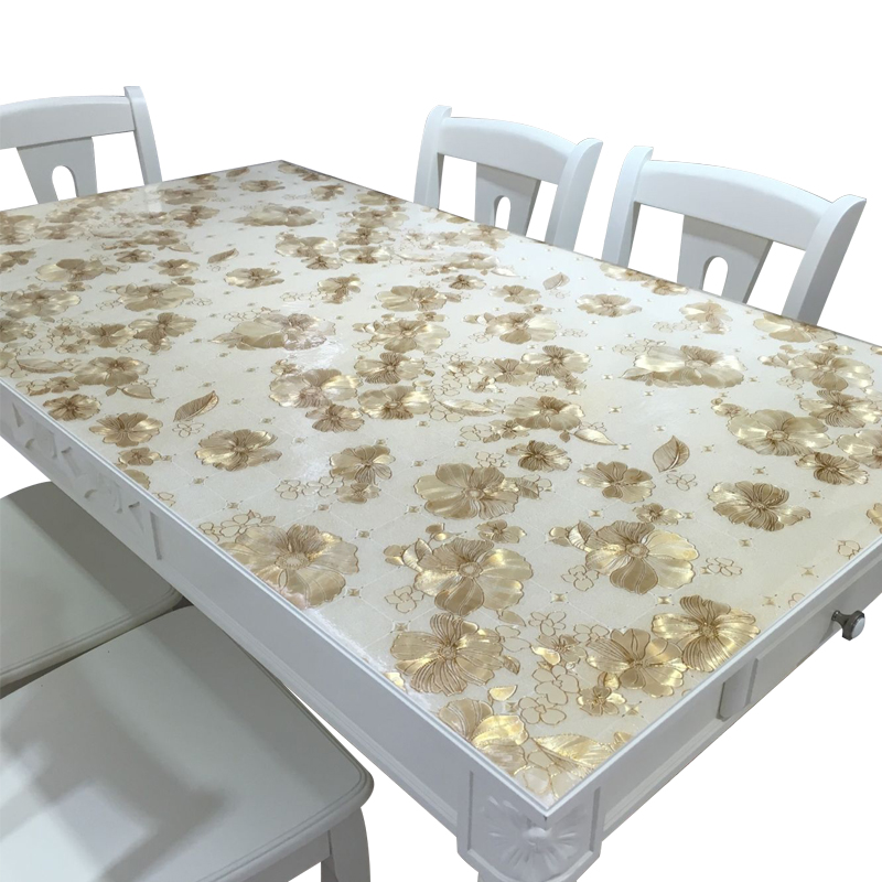 Soft glass thick PVC tablecloth Waterproof and anti oilproof table mat no clean coffee table cloth non slip table cover