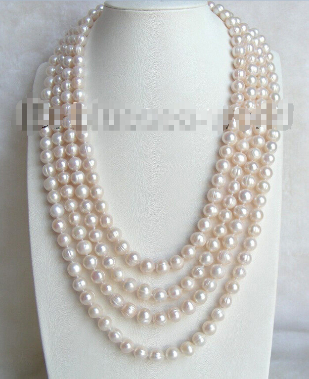 FREE SHIPPING>>>@@ > AMAZING 100 10mm white natural freshwater pearls necklace b1117^^^@^Noble style Natural Fine jewe & natural 100