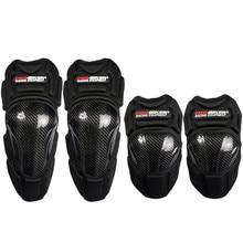 PRO-BIKER Motorcycle Carbon Fiber Kneedpads Elbow & Knee Pads Protectors Guards Motocross Equipment Knee Protection Gear