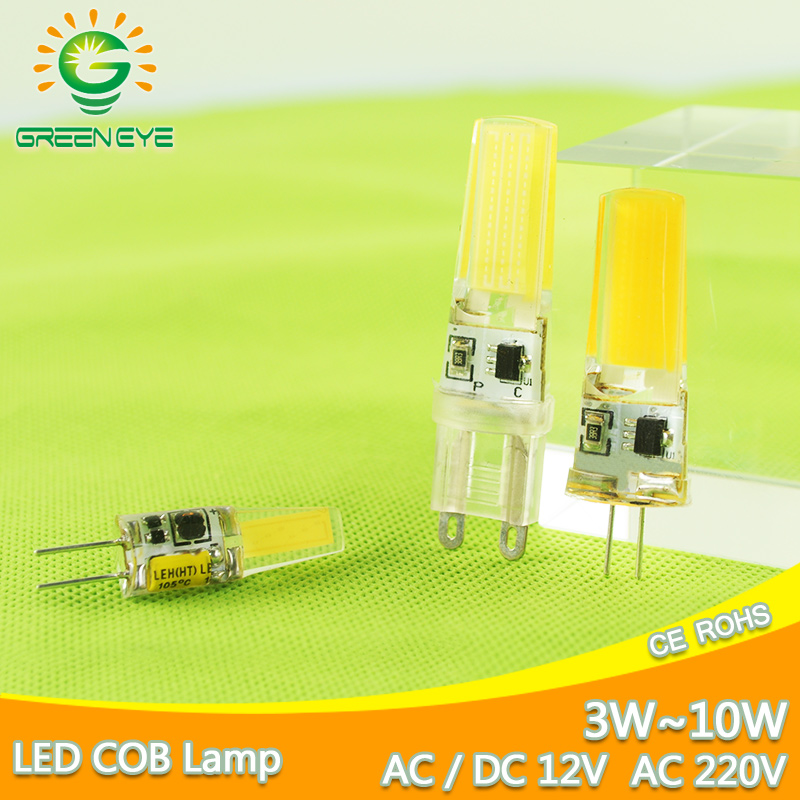 LED G4 G9 Lamp Bulb AC DC Dimmable cob led 12V 220V 3W 6W 10w COB SMD LED Lighting Lights replace Halogen Spotlight Chandelier high power dimmable 189mm led r7s light 50w cob r7s led lamp with cooling fan replace 500w halogen lamp