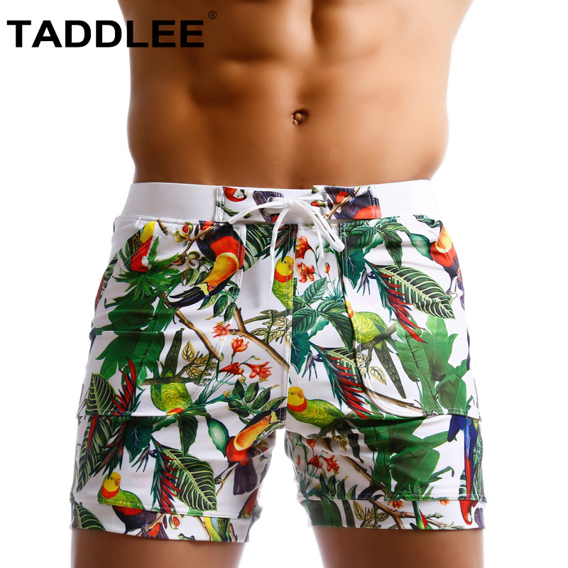 Taddlee Brand Men Swimwear Swimsuits Beach Board Shorts Boxer Trunks Sea Casual Short Bottoms Quick Drying Gay Pockets Shorts