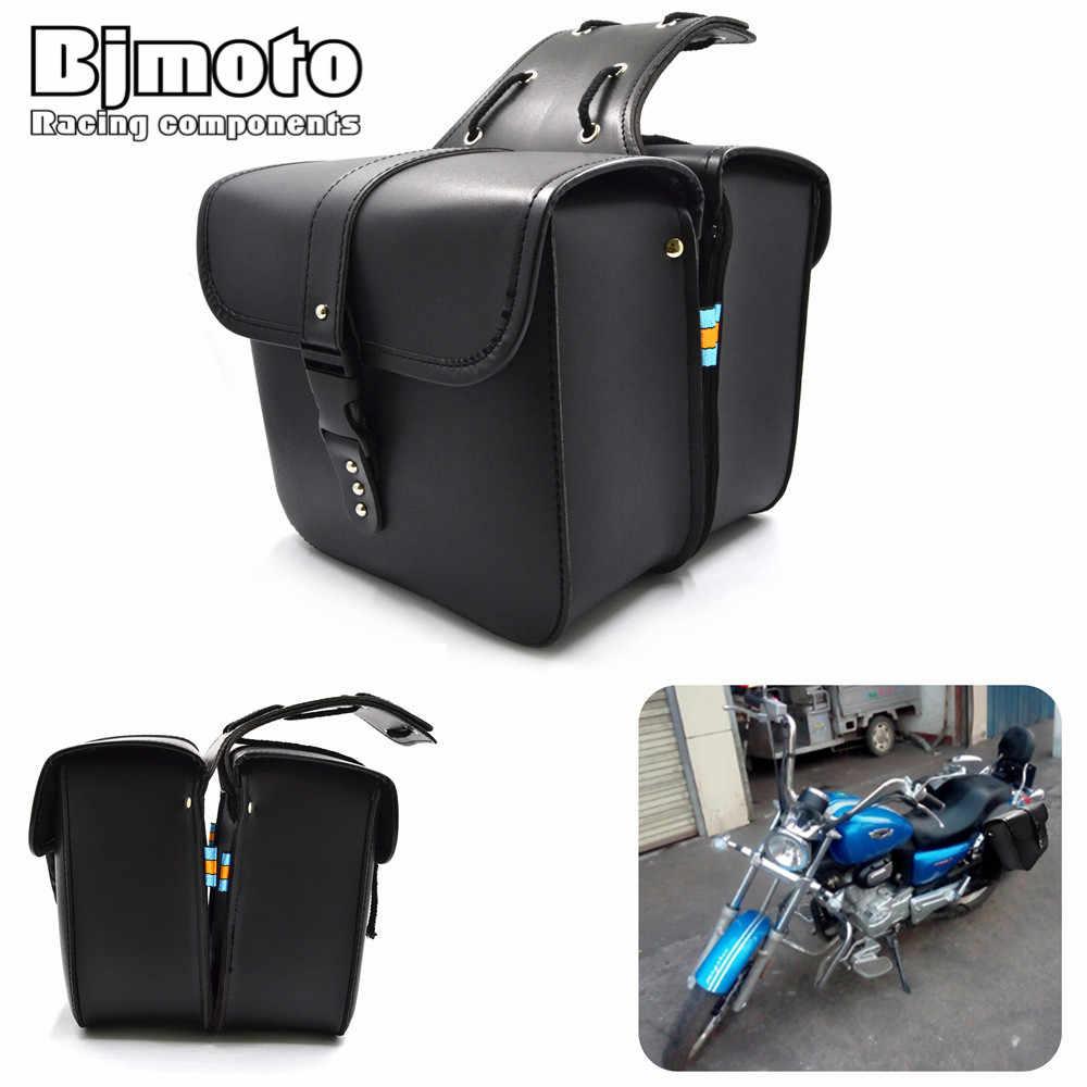 2 stücke Motorrad Biker Sattel Taschen Satteltaschen motorrad Packtaschen Seite Werkzeug Lagerung tasche Für Harley Sportster Davidson motocross