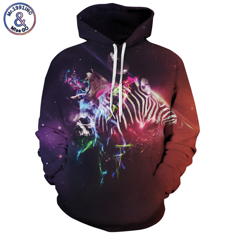 Mr.1991INC Gradient Sky Star Skull Sweatshirts Men Hooded sweatshirt autumn winter Hot Pullovers Casual Men Hoodies S-3XL M143