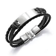 Винтажные ювелирные изделия черные серебряные из нержавеющей