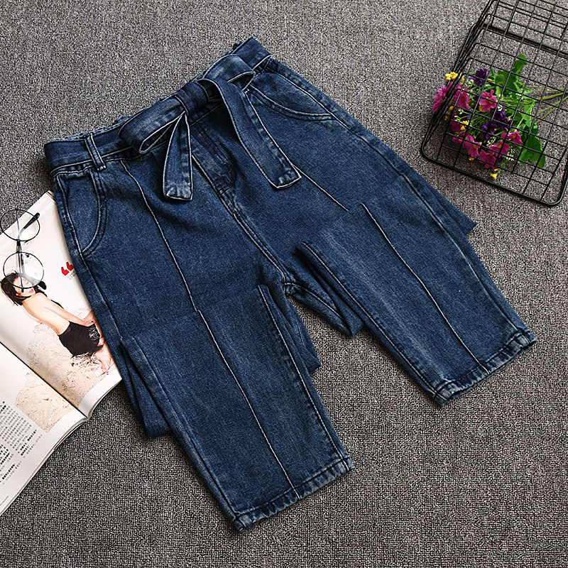 2018 Women High Waist Jeans Woman Stretch High Waisted Jeans Skinny Plus Size Ladies High Waist Straight Mom Jeans For Women