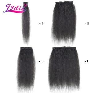 Image 2 - Lydia 8 teile/satz 18 Clips In Haar Haarteile 16 20 Inch Verworrene Gerade Lange Synthetische Wärme Beständig Haar Extensions bundles