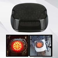 Harley LED Tail Light Turn Signal Light Smoked Lay Down Type Motorcycle Taillights with Brake Signal Driving Lig