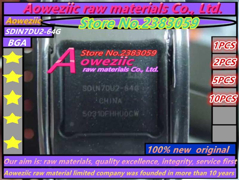 Aoweziic (1PCS) (2PCS) (5PCS) (10PCS) 100% New original SDIN7DU2-64G BGA Memory chip aoweziic 1pcs 2pcs 5pcs 10pcs 100% new original klmag2geac b001 bga memory chip klmag2geac b001 emmc font 16gb
