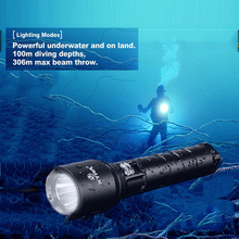 XTAR Дайвинг фонарик 4 Режим 1100 люменов светодиодный фонарь освещения Тактический Водонепроницаемый D26 подводный светильник